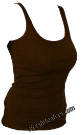 Brown Womens Wife Beater Shirts (3 Beaters)