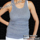 Gray Wife Beater Tank Top Shirts