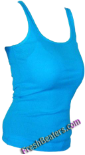 Turquoise Womens Wife Beater Tank Top Shirts