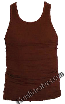 Pro Club Brown Muscle Tank Tops (2 Beater)
