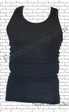 Pro 5 - Charcoal Ribbed Cotton Tank Tops (3 Beater)