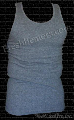Pro 5 - Gray WifeBeater Muscle Tank Top (3 Beater)
