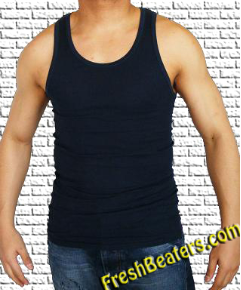 Pro Club Navy Blue Colored Tank Tops (2 Beater)