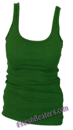 Olive Womens Wife Beater Shirts (3 Beaters)