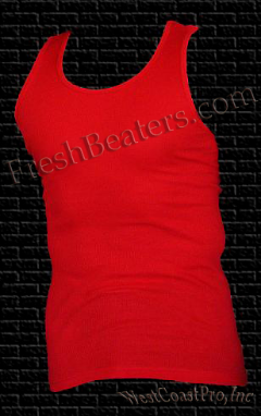 Pro 5 - Red Wife Beater Mens Tank Tops (3 Beater)