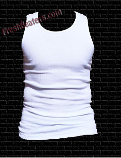 Pro 5 -White Tank Top White Wife Beater (3 Beater)