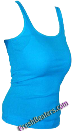 Turquoise Womens Wife Beater Shirts (3 Beaters)