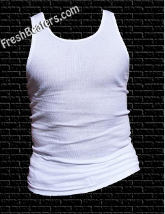 Pro Club - White Wife Beaters White Tank Tops (3 Beaters)