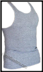 Gray Cotton Tank Top - 2 Beaters