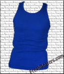 Mens Wife Beater Tank Tops - Blue  Beater