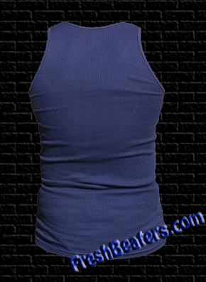 81016590aa756 Navy Blue Wife Beaters - Ribbed Tank Top WifeBeaters