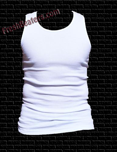 Tank top style undershirts for men are called