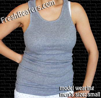e7a45d0432bd7 Gray WifeBeater - Muscle Tank Top - Ribbed Muscle Shirt